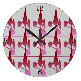 ダイヤモンドの影の円の時計 ラージ壁時計
