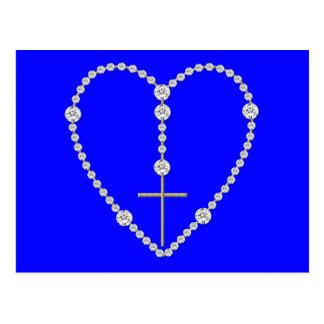 ダイヤモンドの数珠-優美の十分のあられメリー はがき