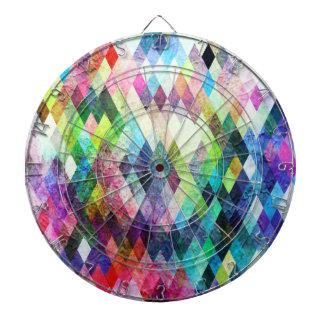 ダイヤモンドの明るく色彩の鮮やかなデザイン ダーツボード