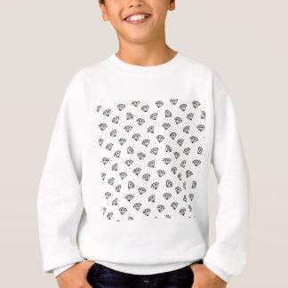 ダイヤモンドの白黒版 スウェットシャツ