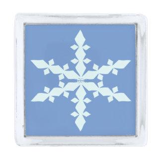 ダイヤモンドの雪片のラペルピン 銀色 ラペルピン