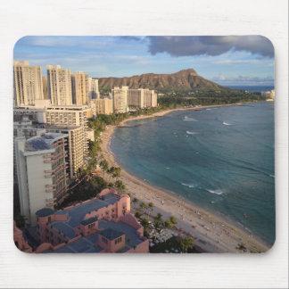ダイヤモンドの頭部、Waikikiのビーチ、ハワイ マウスパッド