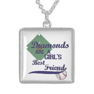 ダイヤモンドは女の子で親友のネックレスです スターリングシルバーネックレス