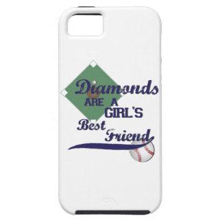 ダイヤモンドは女の子で親友の電話箱です iPhone SE/5/5s ケース