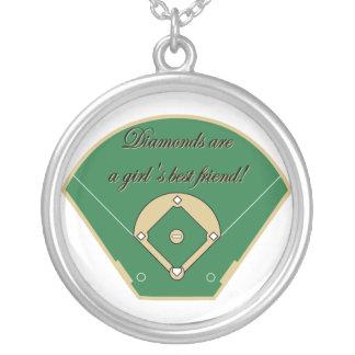 ダイヤモンドは女の子の親友のネックレスです シルバープレートネックレス