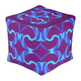 ダイヤモンドは青またはバーガンディのPouf 4の家に接吻します プーフ