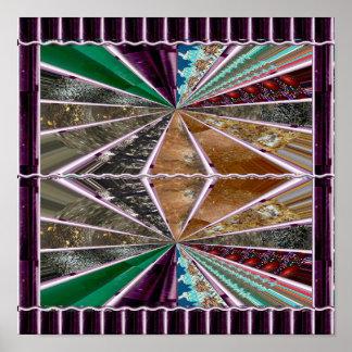 ダイヤモンドはSpectruを並べます; mの水晶石造りの大理石 ポスター