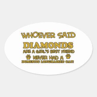 ダイヤモンドより国内長い髪のよい 楕円形シール