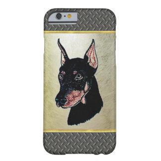 ダイヤモンドパターンドーベルマン犬のiPhone6ケース Barely There iPhone 6 ケース