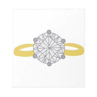 ダイヤモンド指輪 ノートパッド