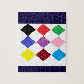 ダイヤモンド色 ジグソーパズル