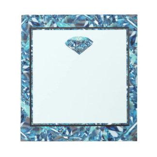 ダイヤモンド記念日のテーマのギフト、パーティーをカスタマイズ ノートパッド