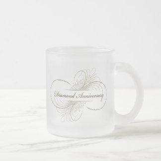 ダイヤモンド記念日 フロストグラスマグカップ