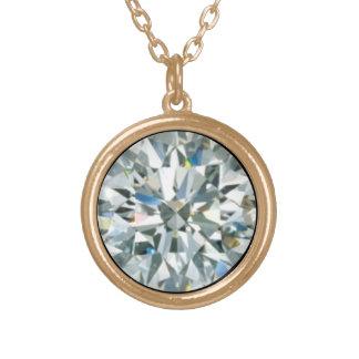 ダイヤモンド4月Birthstone -無敵の- ゴールドプレートネックレス