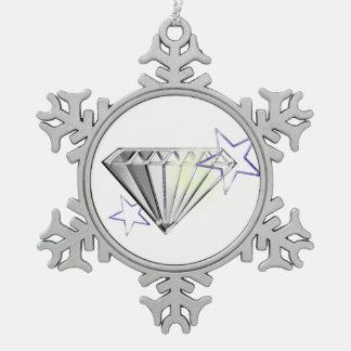 ダイヤモンド スノーフレークピューターオーナメント