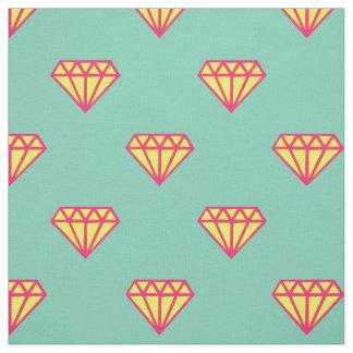 ダイヤモンド: ピンク、ティール(緑がかった色)及び黄色 ファブリック
