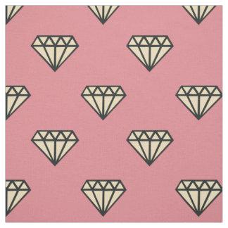 ダイヤモンド: ピンク、灰色及びクリーム ファブリック