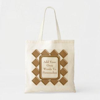ダイヤモンド-ミルクチョコレートおよび白いチョコレート トートバッグ