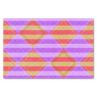 、ダイヤモンド、斑点を付けられたパターン縞で飾ります 薄葉紙