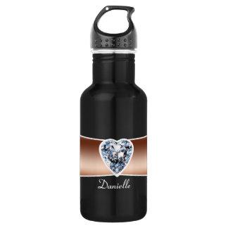 ダイヤモンド-銅の名前入り ウォーターボトル