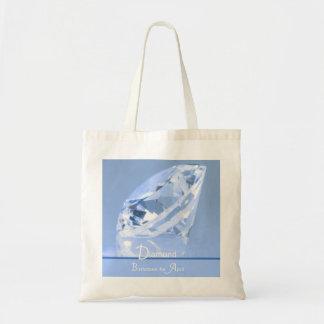 ダイヤモンド- 4月Birthstoneのバッグ トートバッグ