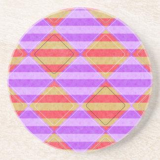 、ダイヤモンド、Shirleyテイラーによる点パターン縞で飾ります コースター