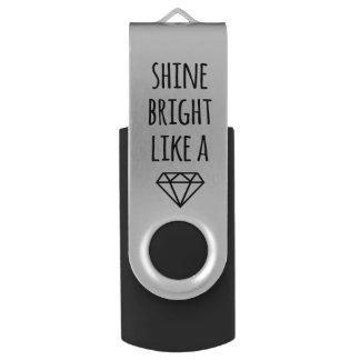 ダイヤモンドUSBドライブのように明るい輝やき USBフラッシュドライブ