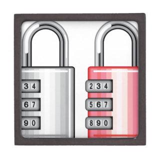ダイヤル錠のベクトル ギフトボックス