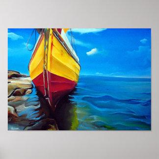 ダウのボートのモザンビークの優れたキャンバスの光沢 ポスター