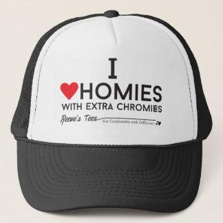 ダウン症: 私は余分chromiesTMが付いているhomiesを愛します キャップ