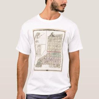 ダグラスおよびBurnett郡の地図 Tシャツ