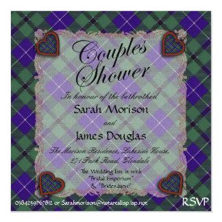 ダグラスのスコットランドの一族のタータンチェック-格子縞 カード