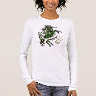ダグラスのタータンチェックのユニコーン Tシャツ