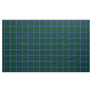 ダグラスのタータンチェックの青緑および黒の格子縞の生地 ファブリック