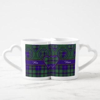 ダグラスの一族の格子縞のスコットランド人のタータンチェック ペアカップ