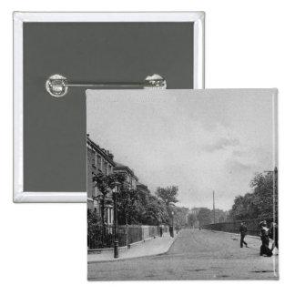 ダグラスの道、Canonbury、Islington、c.1905 5.1cm 正方形バッジ