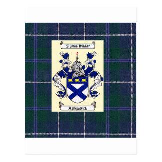 ダグラスの青のタータンチェックのKirkpatrickの頂上 ポストカード