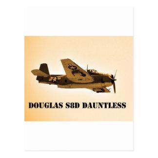 ダグラスのDauntless世界大戦2の戦闘機 ポストカード
