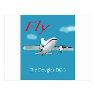 ダグラス有名なDC3の航空機 ポストカード