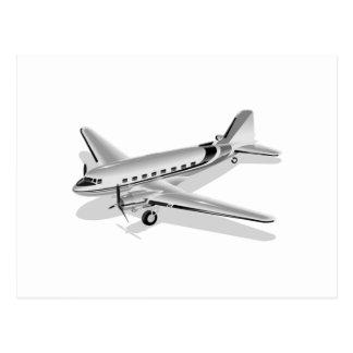 ダグラスDC-3の飛行機 ポストカード