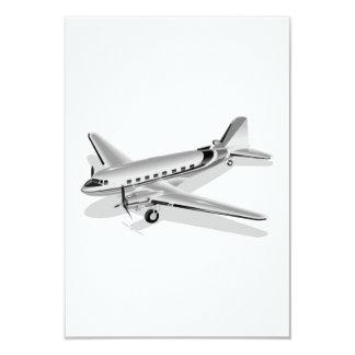 ダグラスDC-3の飛行機 8.9 X 12.7 インビテーションカード