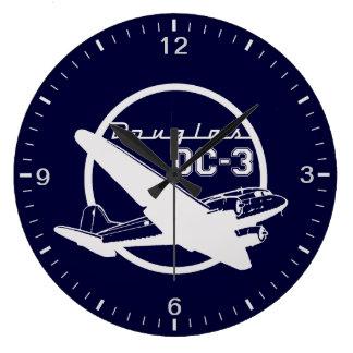 ダグラスDC-3 ラージ壁時計