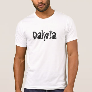 ダコタのゴシックのスカルのスカルのゴシック様式ギフトライトTシャツ Tシャツ