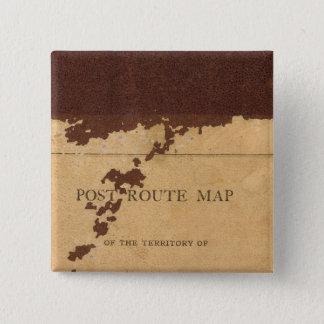 ダコタの領域のポストのルートマップ 5.1CM 正方形バッジ
