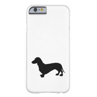 ダックスフントのシルエット BARELY THERE iPhone 6 ケース