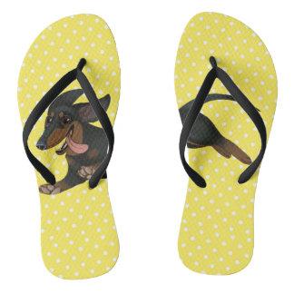 ダックスフントのビーチサンダルのウインナー犬の靴 ビーチサンダル