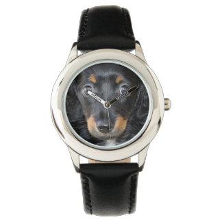 ダックスフントの子犬 腕時計