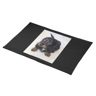 ダックスフントの小犬のかわいく美しい写真、ギフト ランチョンマット