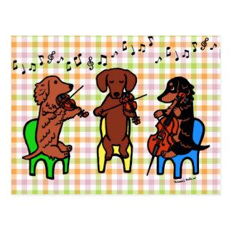 ダックスフントの弦楽三重奏 ポストカード