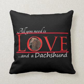 ダックスフントの枕を愛して下さい クッション